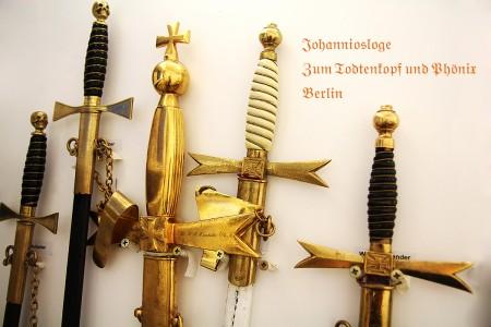"""Ritualgegenstände der Johannisloge """"Zum Todtenkopf und Phönix"""""""